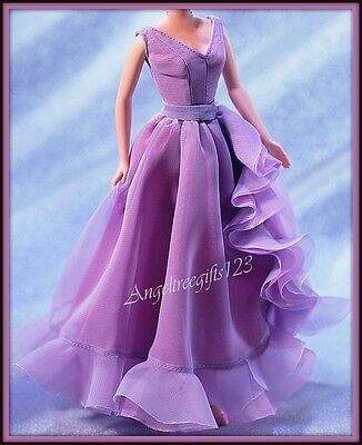 White Diamonds purple gown for silkstone Barbie model muse royalty