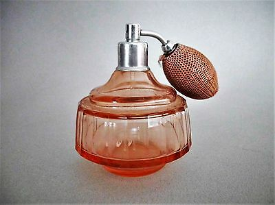 Vintage Pink Glass Perfume Bottle Atomizer Glass Syphon