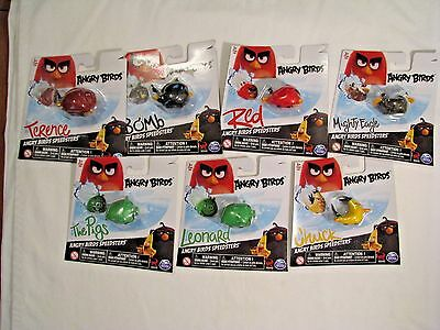 7 Angry Birds Speedsters Figures Chuck Terence Red Bomb Leonard Pigs Might Eagle