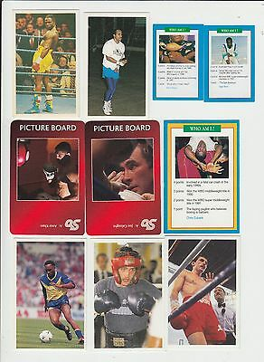 Boxing : British Boxers : UK sports game card group - 22 cards