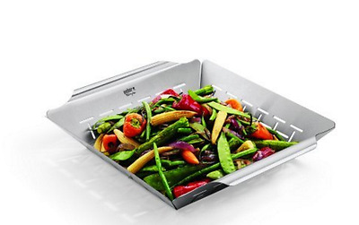 BBQ Grill Vegetable Basket Professional Grade Stainless Steel by Weber