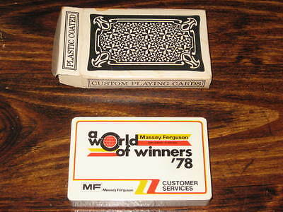 1978 Massey Ferguson Deck Playing Cards A World Of Winners 78 Tractors Combines