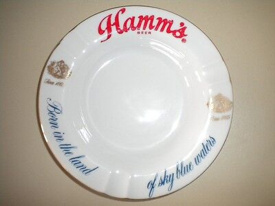 Vintage 60's Collectible HAMM'S Beer Ash Tray Mint!