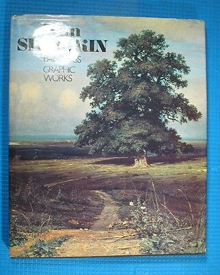 Vintage Russian book I. Shishkin painting drawing etching graphic landscape art