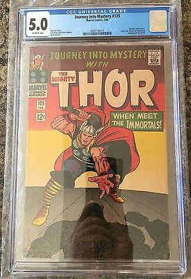 JOURNEY INTO MYSTERY #125 CGC 5.0  off-white pages THOR
