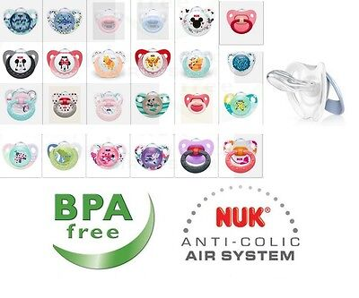 Nuk All Design Soothers/Dummies Are Available (Latex / Silicone) Size 1 (0-6m)