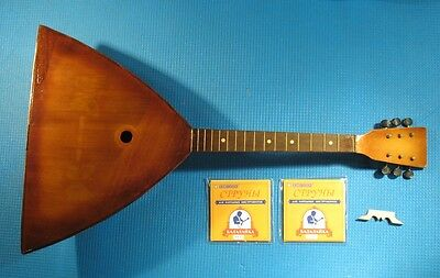 Vintage Russian Balalaika +6 strings folk musical instrument RESTORED