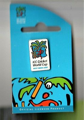 Icc Cricket World Cup West Indies 2007 (White) Pin Rare
