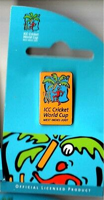 Icc Cricket World Cup West Indies 2007 (Yellow) Pin Rare