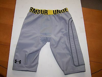 Under Armour Heat Gear base layer padded compressions shorts gray S Mens