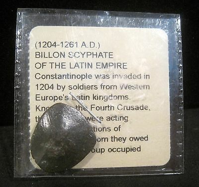 (1204-1261 A.D.) Billon Scyphate of The Latin Empire  Ancient Coin