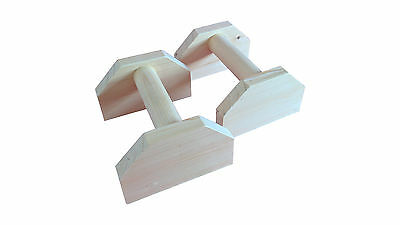Wooden Parrallettes Gymnastic Calisthenics MMA handstand balance bars