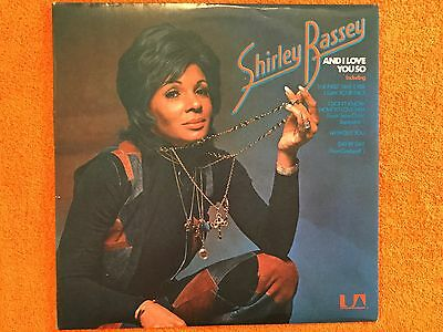 SHIRLEY BASSEY - And I Love You So - LP Vinyl Record - Excellent Condition