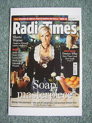 Postcard Radio Time cover Coronation Street Katherine Kelly Becky TV August 2009