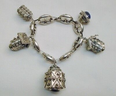 Etruscan Revival 800 Silver Bracelet  (Free Shipping & Insurance)