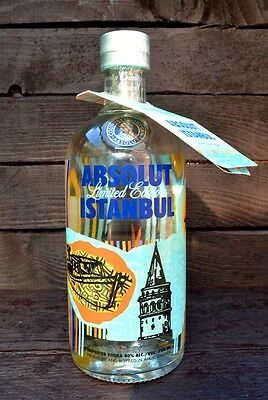 NEW Absolut Vodka Istanbul 700ml full & sealed