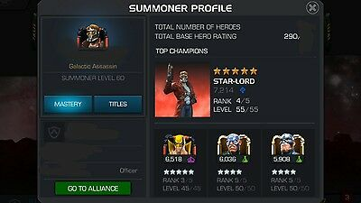 Marvel Contest of Champions Account - Advanced - with Class Cats, T2 Alphas, etc