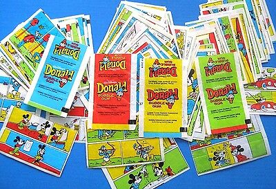 RARE! Orginal Bubble Gum  Inserts Wrappers Wax DONALD DUCK SET 102  Pcs