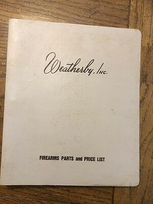 Vintage Weatherby Firearms Parts and Price Binder