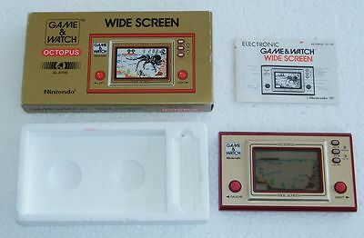 NINTENDO GAME & WATCH - OCTOPUS - OC 22 - Wide Screen 1981 - BOXED -