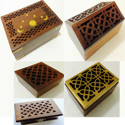 Chic Handmade Wooden Cut-work Fretwork Potpourri Trinket Box Container Keepsake