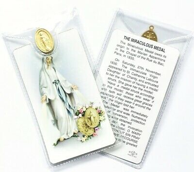 Mary Our Lady Miraculous Medal - Prayer Card & Medal