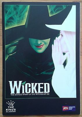Wicked the musical programme Glasgow King's Theatre 2014 Nikki Davis-Jones
