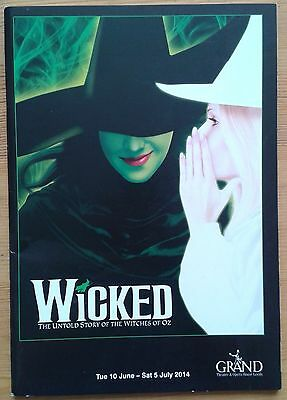Wicked the musical programme Leeds Grand Theatre June 2014 Nikki Davis-Jones