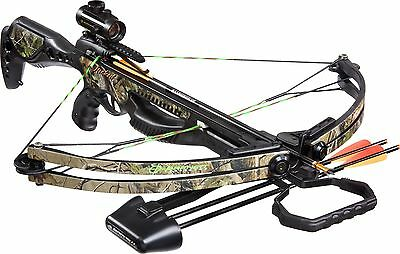 Barnett Jackal Crossbow Package, Quiver, 3 - 20-Inch Arrows and Premium Red Dot