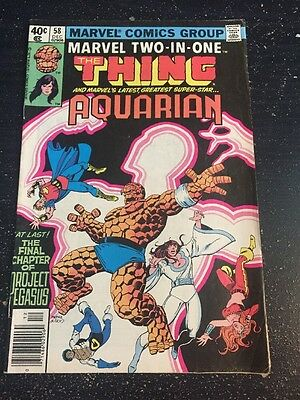 Marvel Two-in-one#58 Awesome Condition 6.5(1979) Perez Art, Aquarian App!!