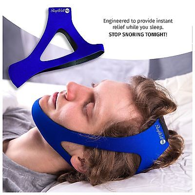 New SleepWell Pro Adjustable Stop Snoring Chin Strap Anti Snore Apnea Jaw 1 Size