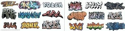 Lot #504 Set of 18 N Scale Water Transfer Graffiti Decals