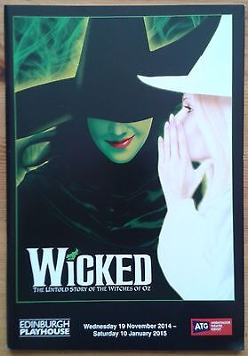 Wicked the musical programme Edinburgh Playhouse Theatre 2014 Ashleigh Gray