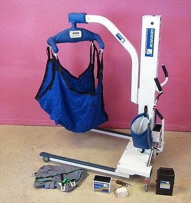 Gendron GT700 Bariatric Patient Transfer Lift w/ 2 Slings, Scale 700 lb Capacity