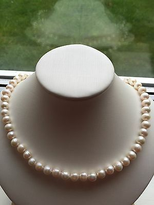 Genuine Freshwater Pearl Necklace with Extended Length Clasp
