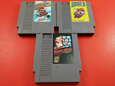 Bundle of 3 NES Games - Super Mario Bros 1 , 2 & 3 Trilogy (Tested & Working)