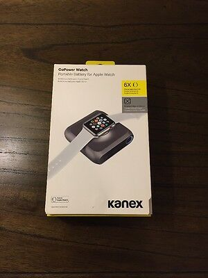 Kanex - GoPower 4,000mAh Portable Charger for Apple Watch - Space Gray