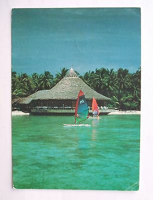 Postcard - INDONESIA - PULAU SERIBU 0pen Sea Restaurant & Board Sailing  (LG2-1)