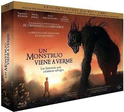 Un Monstruo Viene A Verme, A Monster Calls Blu-Ray + Book Limited Edition To 500