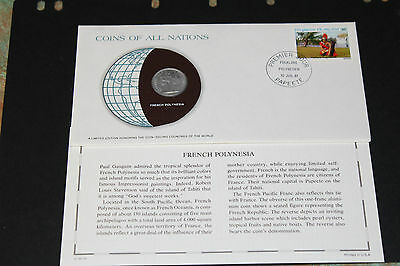 French Polynesia Coins Of All Nations 1979 1 Franc Coin Unc