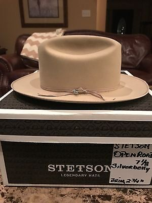 "STETSON ""OPEN ROAD PROMO"" SILVERBELLY WESTERN HAT SIZE 7 1/8 ""It's Rodeo Time"" !"