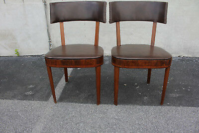 Exceptional Pair of Modern Rosewood Side, Accent Chairs