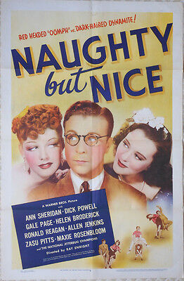 "One Sheet Poster - ANN SHERIDAN - DICK POWELL - ""Naughty But Nice"" - 1939"