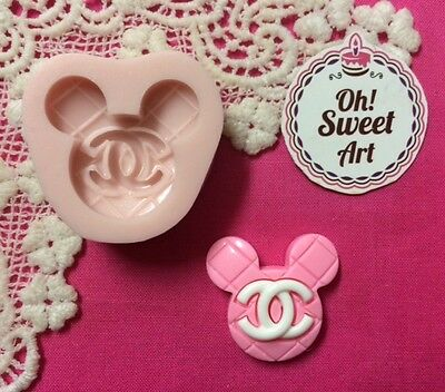 LOGO MAKE UP MICKEY MOUSE  Silicone Mold Food Cake Decoration toppers soap