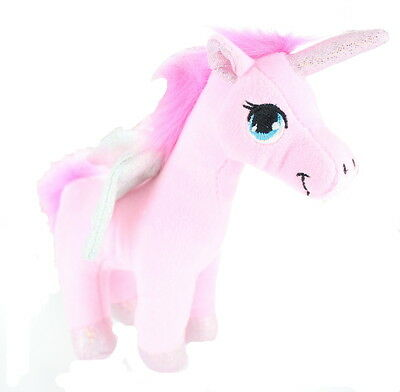 "Children's 9"" Plush Unicorn With Wings Soft Cuddly Teddy Toy  -Pink"