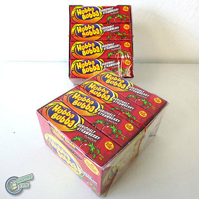 2x 20 Hubba Bubba Wrigley's Soft Bubble Chewing Gum Wrigley Seriously Strawberry