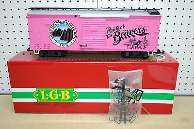 "LGB 4090 Lake George & Boulder ""Route of the Beavers"" Box Car *G-Scale* NEW"
