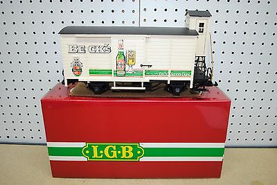 LGB 4026 Beck's Beer Car w/Raised Brakeman's Compartment *G-Scale* NEW
