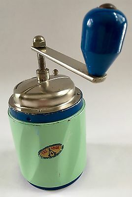 RARE+PRISTINE! Vintage/Antique TRE SPADE Italian Sheet Metal Coffee Mill/Grinder