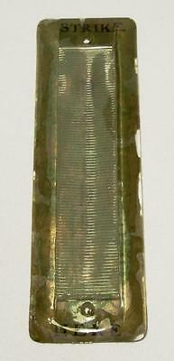 Antique & Rare Long-Narrow Glass WALL MOUNT MATCH STRIKER (Patented May 5, 1914)